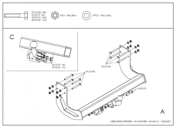 Hak holowniczy + moduł VW Crafter 2006-2017