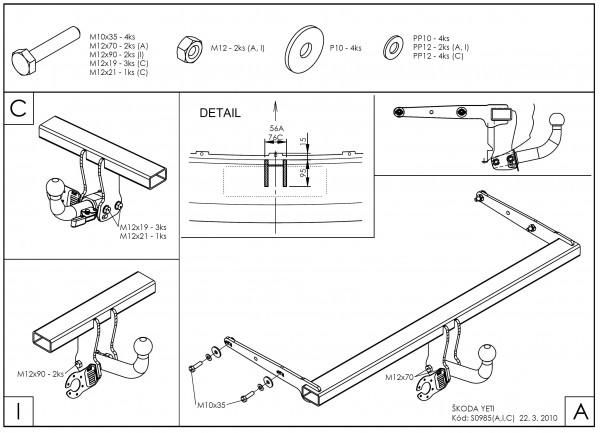 Hak holowniczy + moduł Skoda Yeti od 2009