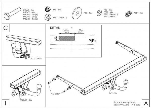 Hak holowniczy + moduł Skoda Superb 2008-2015