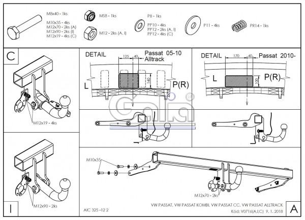 Hak wypinany + moduł VW Passat 2005-2010