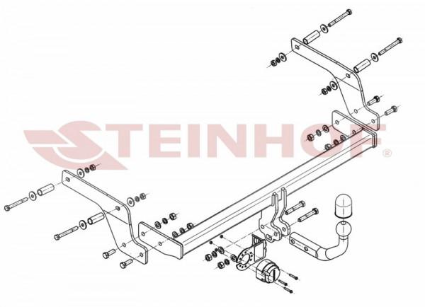 Hak wypinany + moduł DACIA Sandero Stepway II od 2013