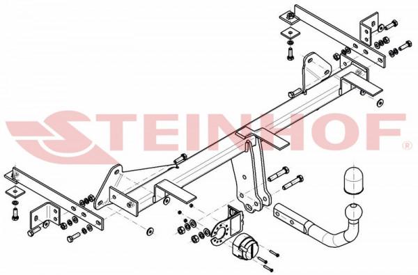 Hak holowniczy + moduł FIAT 500 L Treking od 2012