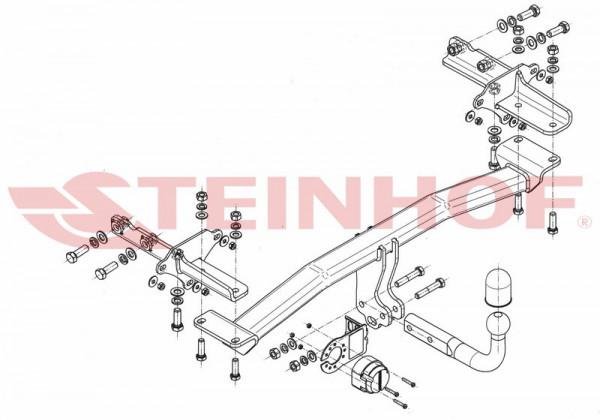 Hak holowniczy + wiązka moduł FIAT 500 X od 2014