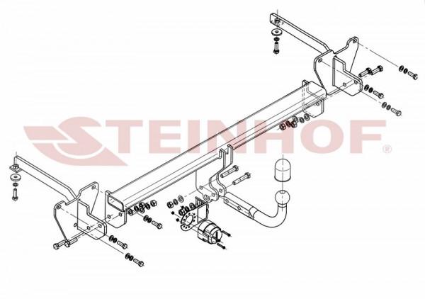 Hak holowniczy + moduł FIAT Doblo II od 2010