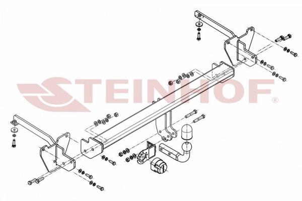 Hak holowniczy + moduł FIAT Doblo II CNG od 2010