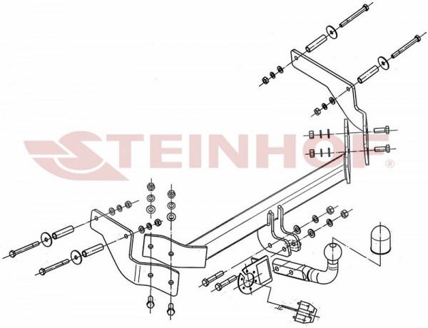 Hak holowniczy + moduł FIAT Fiorino 2008-2016