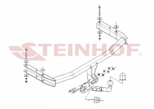 Hak holowniczy + moduł AUDI A4 B7 Kombi 2004-2008