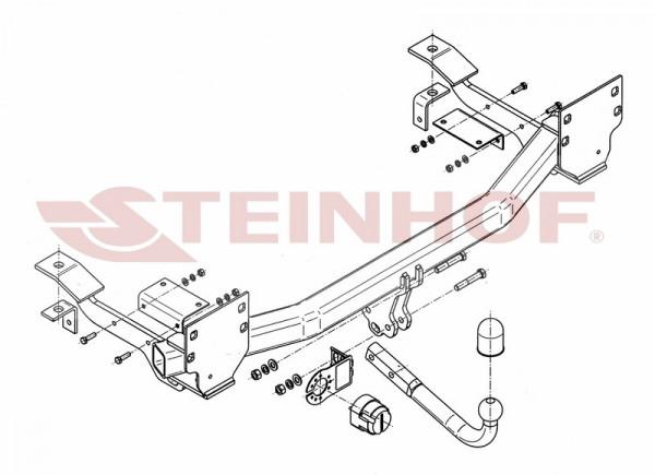Hak holowniczy + moduł RANGE ROVER L322 FL '05-12
