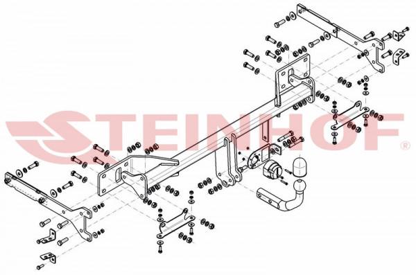 Hak holowniczy + moduł MERCEDES S-Klasa 2005-2013