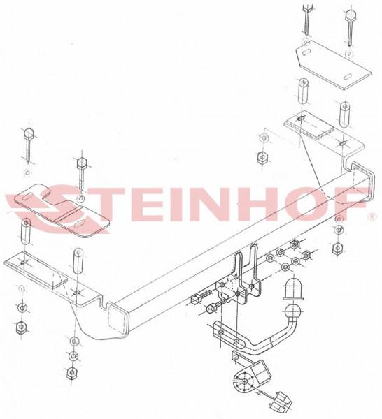 Hak holowniczy + moduł OPEL Astra H 3D 2004-2014