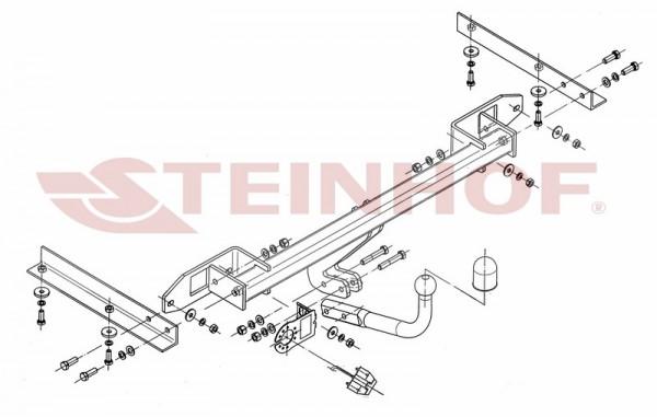 Hak holowniczy + moduł OPEL Astra J 5D 2009-2015
