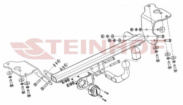Hak holowniczy + moduł TOYOTA Auris II 2012-2015