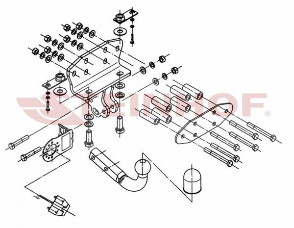 Hak + moduł TOYOTA Land Cruiser V8 od 2008 J200
