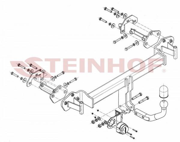 Hak holowniczy + moduł BMW 3 Cabrio E46 2000-2006