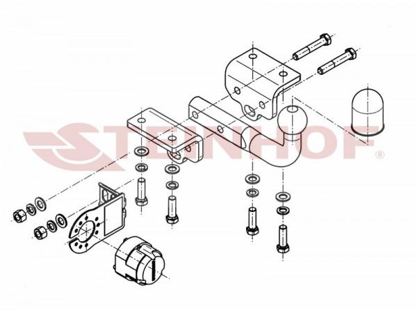 Hak holowniczy + wiązka moduł VW Amarok od 2010