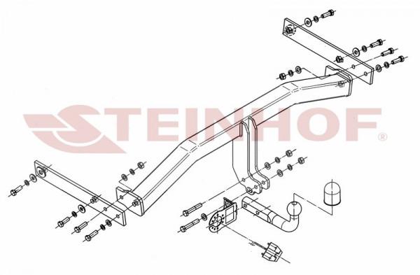 Hak holowniczy + moduł VW Tiguan 2007-2015