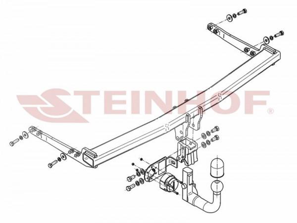 Hak wypinany + moduł AUDI A3 3D od 2012
