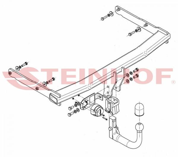 Hak wypinany + moduł AUDI A6 AllRoad C7 od 2012
