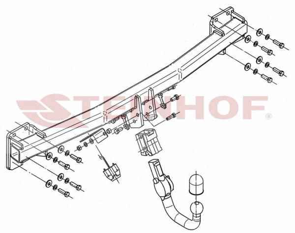 Hak wypinany + wiązka z modułem AUDI Q7 2006-2015