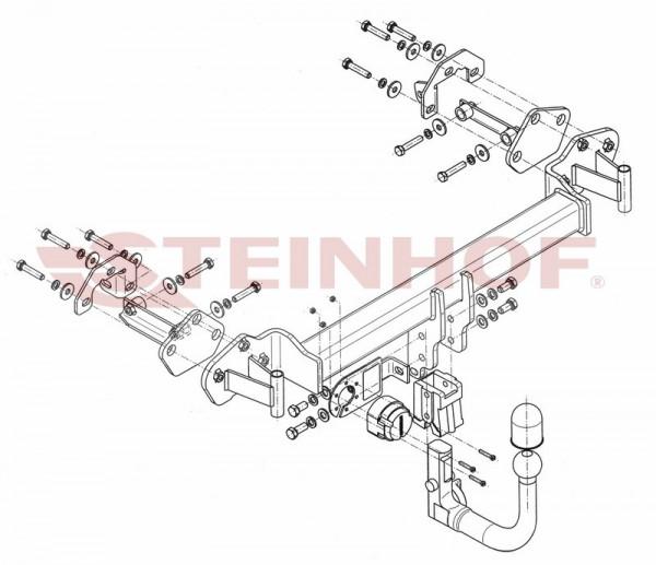 Hak wypinany + moduł BMW Serii 3 E46 Coupe '99-05