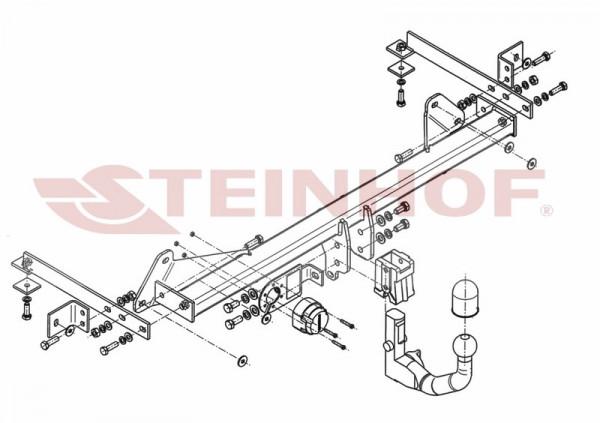 Hak wypinany + moduł FIAT 500 L 2012-2017