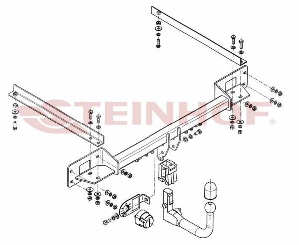 Hak wypinany + moduł FIAT Linea 4D 2007-2015