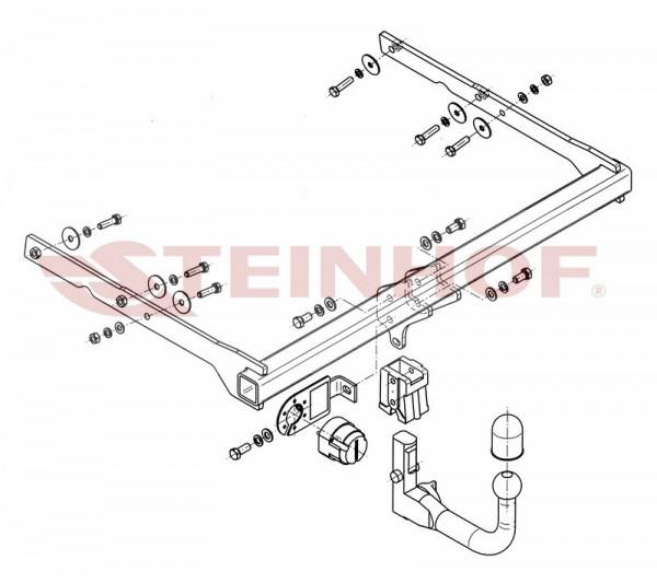 Hak wypinany + moduł FORD Mondeo Mk4 Kombi 07-14