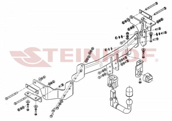 Hak wypinany + moduł KIA Sorento FL 2012-2015