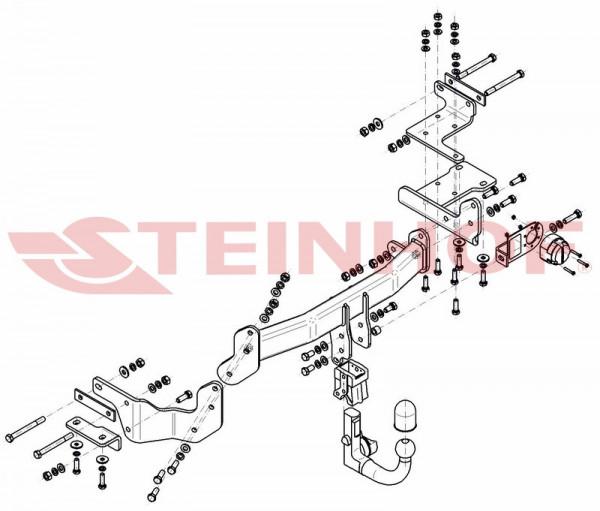 Hak wypinany + moduł KIA Sorento III UM od 2015
