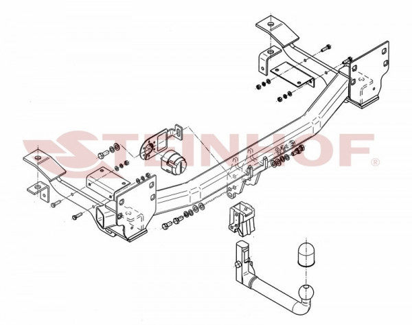 Hak wypinany + moduł RANGE ROVER FL 2005-2012