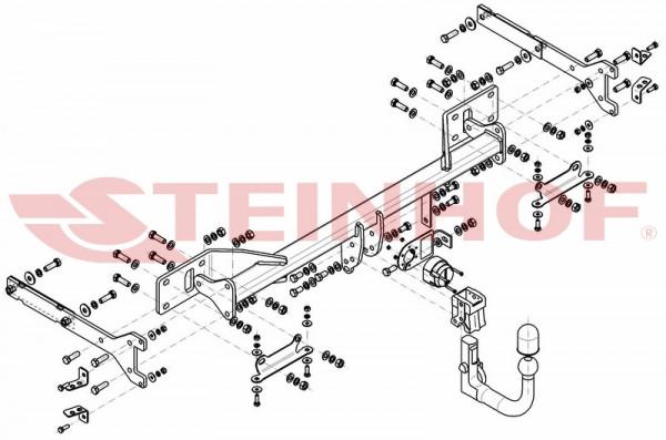 Hak wypinany + moduł MERCEDES S-Klasa 2005-2013
