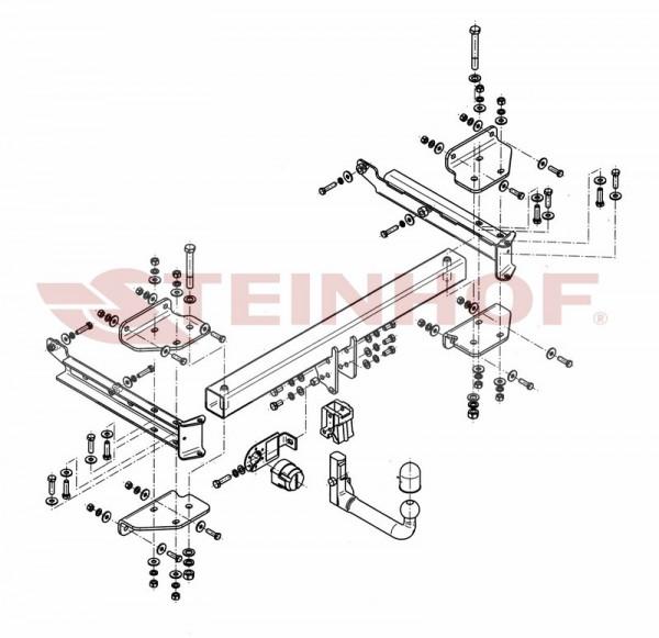 Hak wypinany + moduł MERCEDES ML 2005-2011 W164
