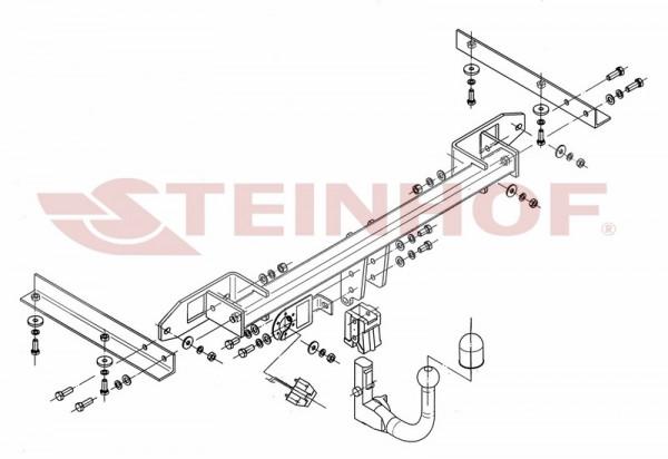 Hak wypinany + moduł OPEL Astra J 5D 2009-2015