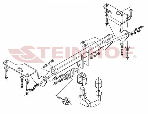 Hak wypinany + moduł TOYOTA Avensis T27 od 2009