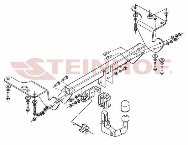 Hak wypinany + moduł TOYOTA Avensis T27 Kombi