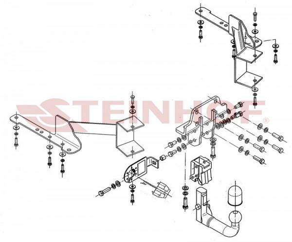Hak wypinany + moduł TOYOTA Land Crusier J150