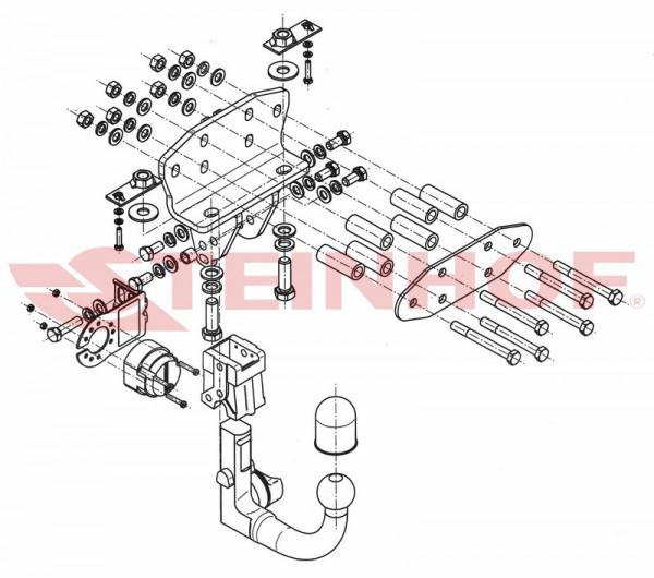 Hak wypinany + moduł TOYOTA Land Crusier J200