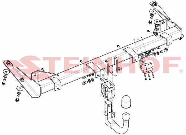 Hak wypinany + moduł VW Caddy od 2015