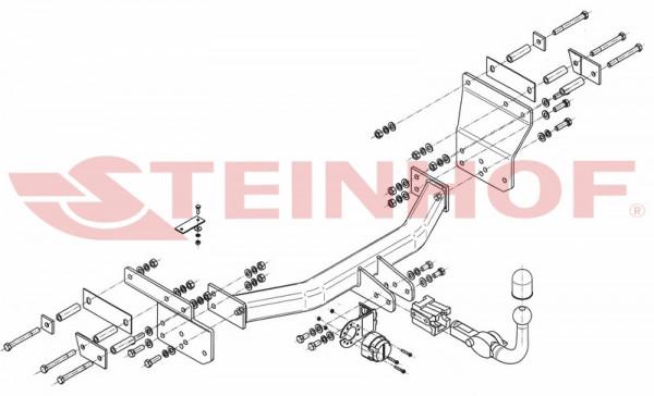 Hak holowniczy + moduł CHRYSLER Sebring 4D od 2007