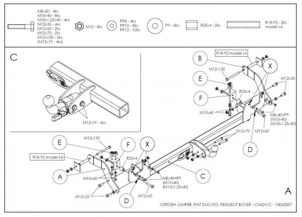 Hak holowniczy + moduł Peugeot Boxer od. 2006