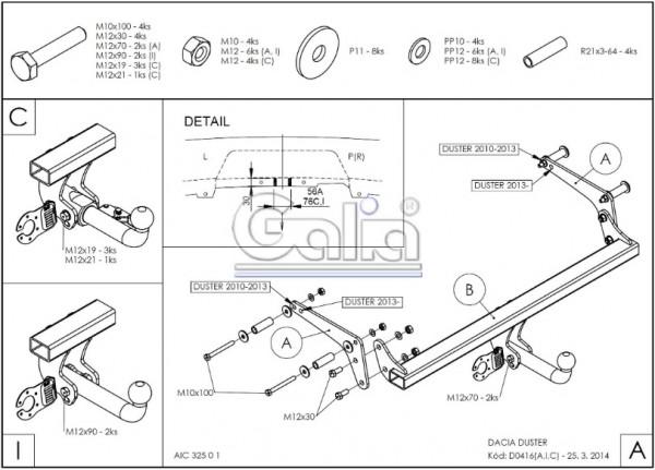 Hak wypinany + moduł Dacia Duster 2013-2017