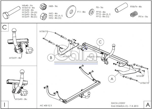 Hak holowniczy + moduł Dacia Lodgy od 2012